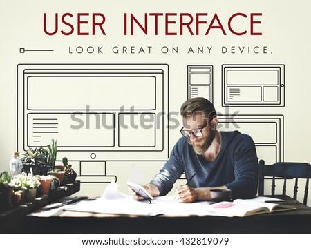 Template Layout Web UI Website Concept - stock photo