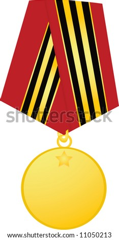 Template medal on white background - stock photo