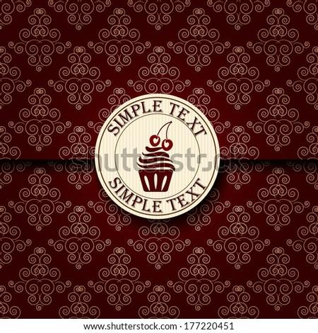 Template of a cafe menu - stock photo