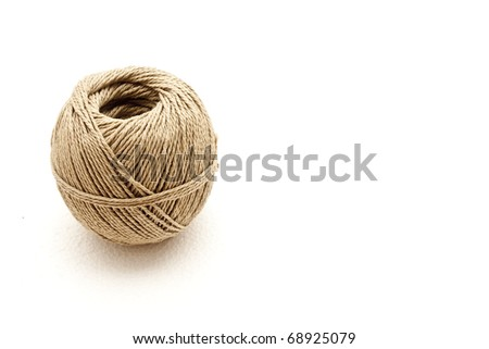 Template of a thread ball isolated in white - stock photo