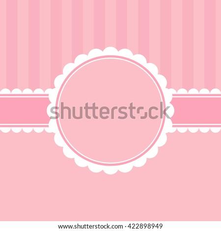 Template of elegant greeting card. - stock photo