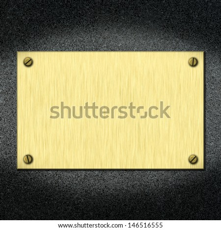 template of metal board for designers .