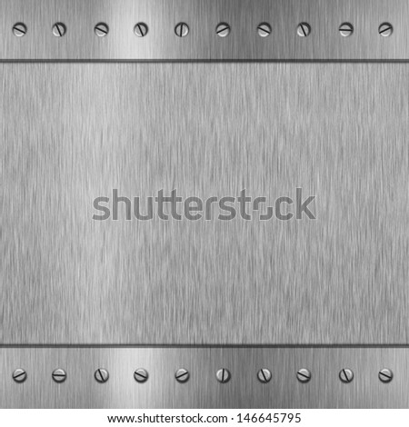template of silver metal background for design - stock photo