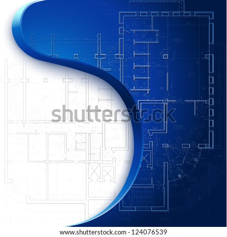 Template with architectural design elements for your business site - Raster version - stock photo
