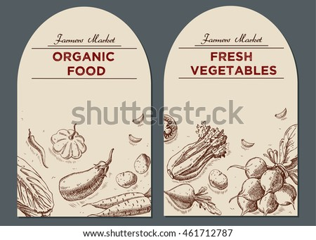 templates label design hand drawn linear stock illustration