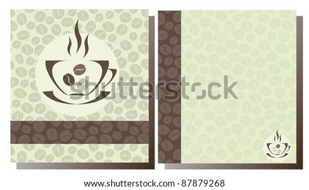 Templates of Coffee shop menu - stock photo