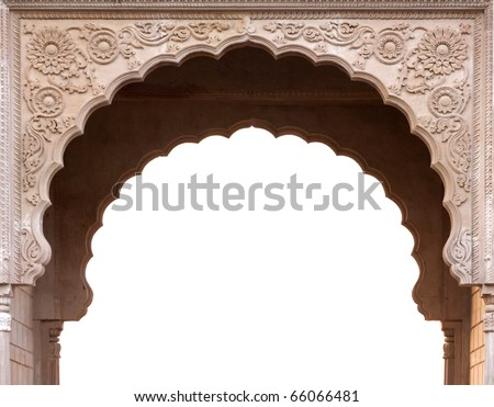 Temple arch entrance in India