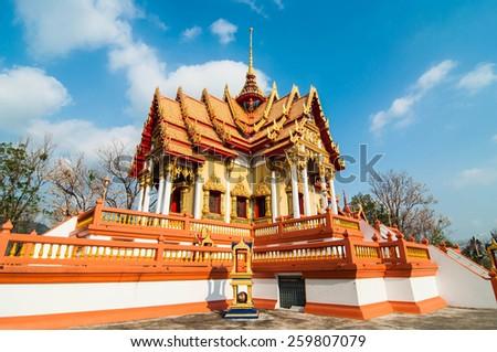 temple at thalland. - stock photo