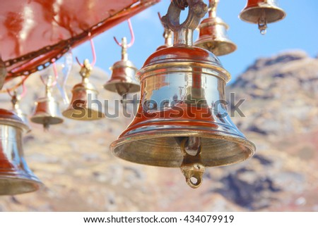Temple Bells - stock photo