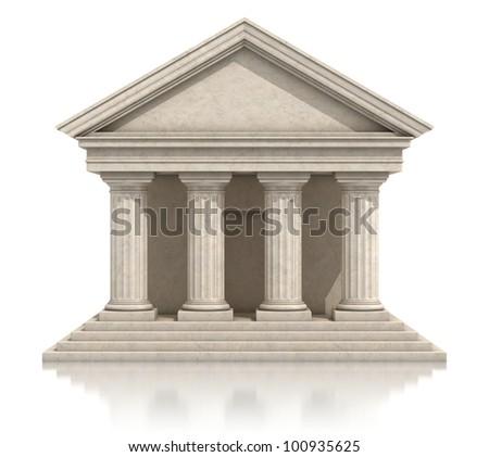 temple 3d icon - stock photo