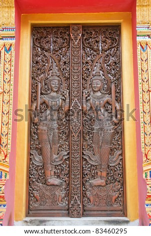Temple door decorations from Thailand