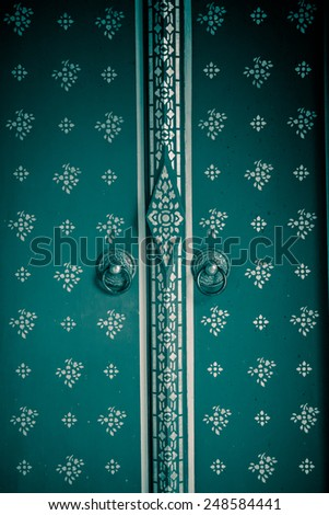 Temple door texture - stock photo