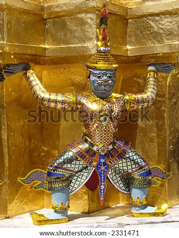 temple guardian - stock photo