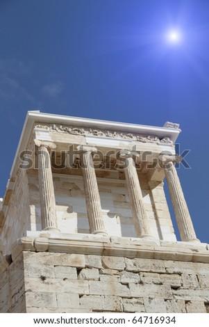 Temple in Acropolis, Greece. - stock photo