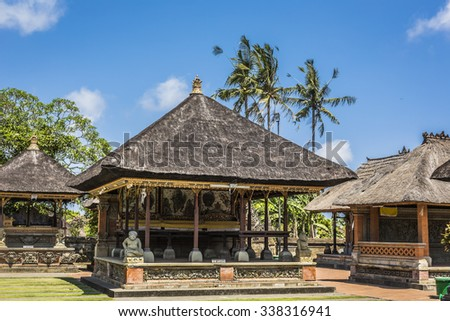 Temple in Bali, Indonesia on a beautiful sunny day