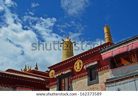 Temple in Lhasa, Tibet