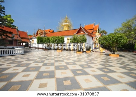 temple in northern thailand - stock photo