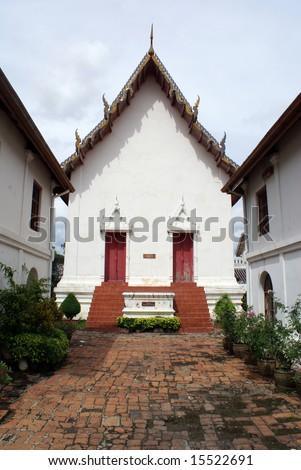 Temple in Phra Narai Rachanivej in Lopburi, central Thailand - stock photo