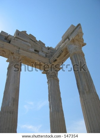 Temple in Side (Turkey)