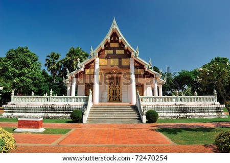 Temple in Sukhothai - stock photo