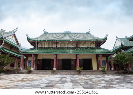 Temple Linh Ung Pagoda Vietnam Danang - stock photo