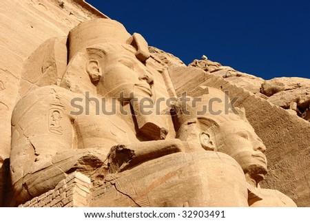 Temple of Abu simbel - stock photo