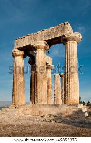 Temple of Apollo, Ancient Corinth, Greece - stock photo