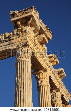 Temple of Apollo, Side, Turkey - stock photo