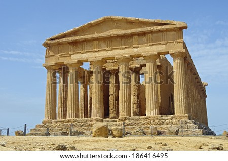 Temple of Concordia in the Valley of the Temples (A UNESCO World Heritage Site). Location: Agrigento (Sicily), Italy.