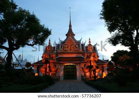 Temple of Dawn - stock photo