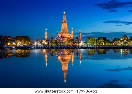 Temple of dawn in Bangkok  Thailand - stock photo