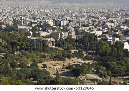 Temple of Hephaestus and ancient Agora of Athens, Greece