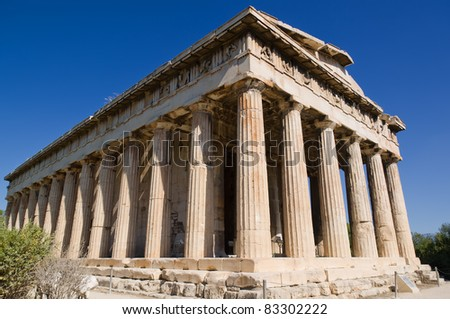 Temple of Hephaestus in Ancient Agora of Athens