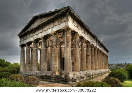Temple of Hephaistos, Athens - stock photo
