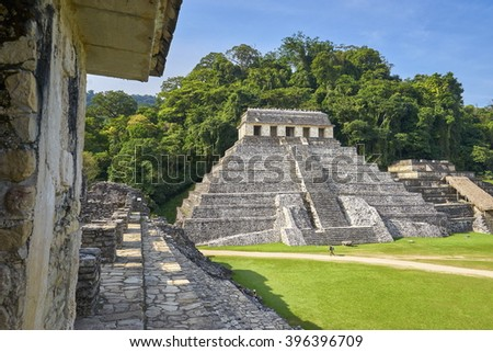 Temple of Inscriptions or Templo de Inscripciones, Ancient Maya Ruins, Palenque Archaeological Site, Palenque, Mexico, UNESCO