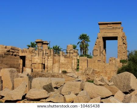 Temple of Karnak, Luxor, Egypt - stock photo