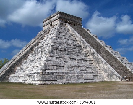 Temple of Kukulcan (El Castillo). Chichen Itza. Mexico - stock photo