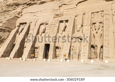 Temple of Nefertari, Abu Simbel (Egypt) - stock photo