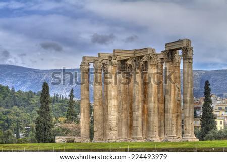 Temple of Olympian Zeus,Athens,Greece  - stock photo