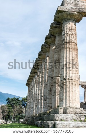 Temple of Paestum - Salerno - italy