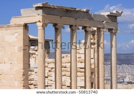 Temple of Poseidon - stock photo