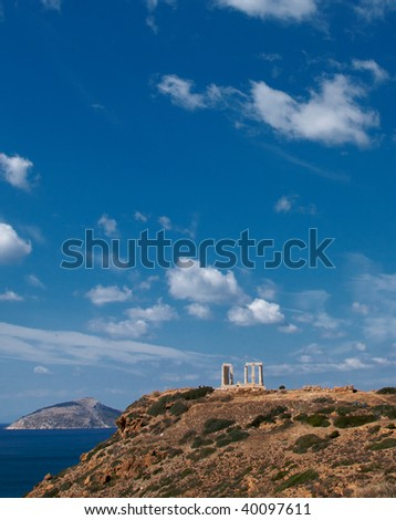 Temple of Poseidon, Greece - stock photo