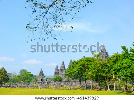 Temple of Prambanan, the largest Hindu temple in Indonesia, Java. Photo taken on 25th May 2014