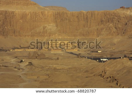 Temple of Queen Hatshepsut Luxor, Egypt, aerial shot