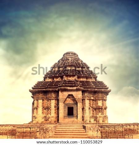temple of sun god - stock photo