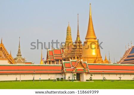 Temple of the Emerald Buddha - stock photo