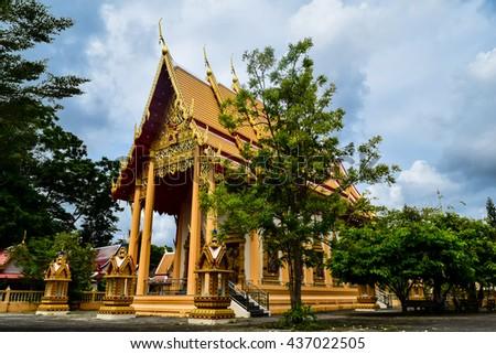 Temple of the gold buddhist. Wat phra tong, Wat pra phut, Phuket, Thailand - stock photo