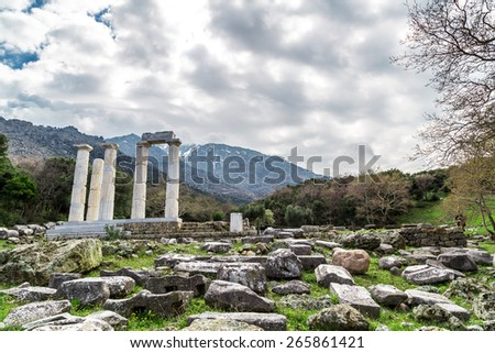 Temple of the Great Gods - stock photo