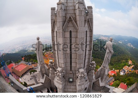 Temple of the Sacred Heart in Barcelona - stock photo