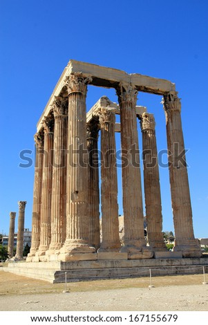 Temple of Zeus Olympian in Athens, Greece